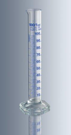 Mérőhenger, üveg talpas,   10 ml