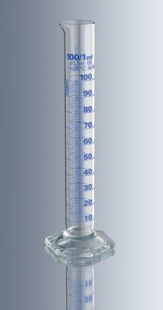 Mérőhenger, üveg talpas,  100 ml