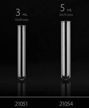 Tesztcső, PS, 12*75 mm