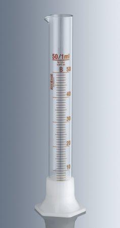 Mérőhenger, műanyag talpas,   25 ml