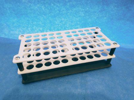 Kémcsőállvány, műanyag, 16 mm/50 férőhely