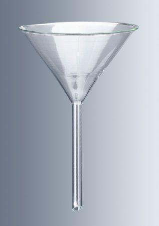 Üvegtölcsér, átm.100 mm