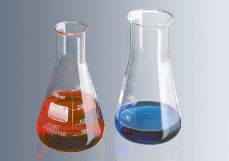 Erlenmeyer lombik, bő,  100 ml