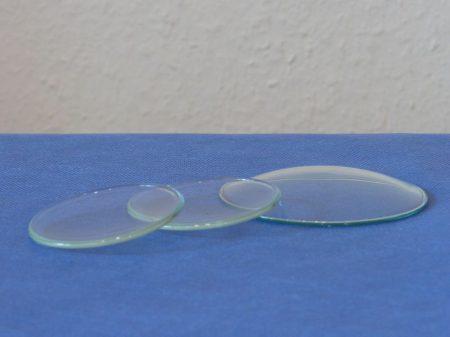 Óraüveg, vágott, átm. 90 mm