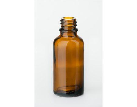 Gyógyszeres üveg, barna, menetes, DIN 18, 30 ml