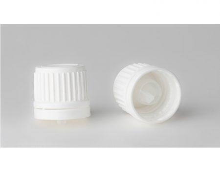 Gyógyszeres üvegre kupak, DIN 18, csepp. betétes ( 0,7 )